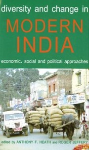 Cover of: Diversity and Change in Modern India