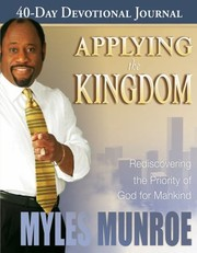 Cover of: Applying the Kingdom 40Day Devotional Journal
