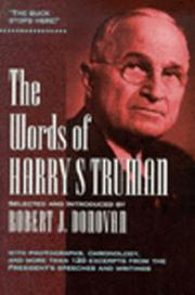 Cover of: The Words of Harry S. Truman (Words of)