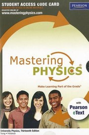 Cover of: MasteringPhysics University Physics Standalone Student Access Code Card