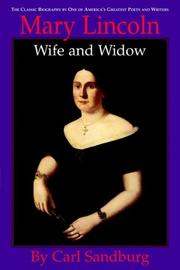 Cover of: Mary Lincoln, wife and widow