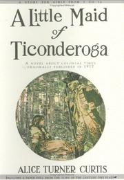 Cover of: A little maid of Ticonderoga