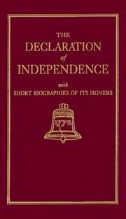 Cover of: The Declaration of Independence With Short Biographies of Its Signers (Little Books of Wisdom)
