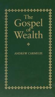 Cover of: Gospel of Wealth (Little Books of Wisdom (Applewood))