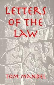 Cover of: Letters of the law