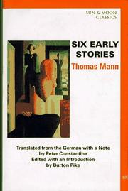 Cover of: Six Early Stories