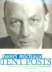 Cover of: Tent Posts | Henri Michaux