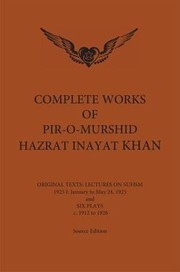 Cover of: Complete Works of PirOMurshid Hazrat Inayat Khan 1925 1