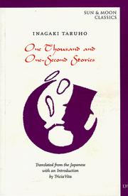 Cover of: One Thousand and One-Second Stories (Sun & Moon Classics Series, Book 138) | Inagaki Taruho