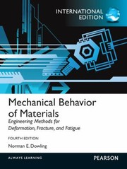 Cover of: Mechanical Behavior of Materials Norman E Dowling