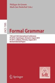 Cover of: Formal Grammar