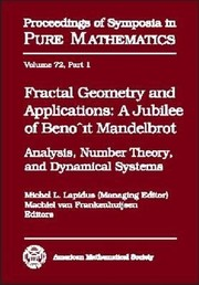 Cover of: Fractal Geometry and Applications