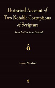 Cover of: A Historical Account of Two Notable Corruptions of Scripture