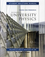 Cover of: Sears and Zemanskys Student Solutions Manual for University Physics Volumes 2 and 3