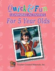 Cover of: Quick & Fun Learning Activities for 5 Year Olds | JULIA JASMINE