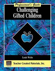 Cover of: Challenging gifted children