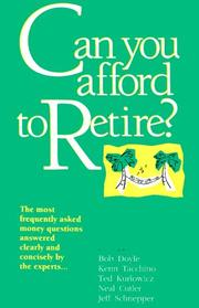Cover of: Can You Afford to Retire?