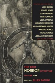 Cover of: The Best Horror of the Year Volume 1