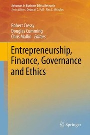 Cover of: Entrepreneurship Finance Governance and Ethics