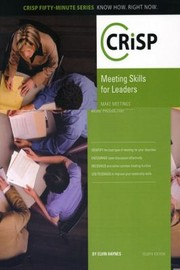 Cover of: Meeting Skills for Leaders