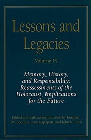 Cover of: Memory History and Responsibility