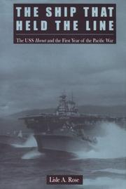 Cover of: The ship that held the line