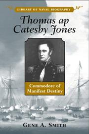 Cover of: Thomas Ap Catesby Jones