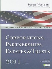 Cover of: Southwestern Federal Taxation 2011 Corporations Partnerships Estates And Trusts Vol 2 With Taxcut Tax Preparation Software Cdrom