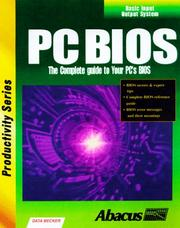 Cover of: PC Bios