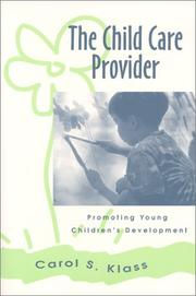 Cover of: The Child Care Provider