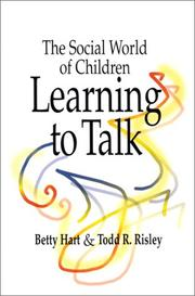 Cover of: The social world of children learning to talk