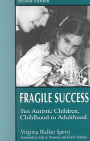 Cover of: Fragile Success | Virginia Walker Sperry