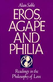 Cover of: Eros, agape, and philia |