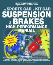 Cover of: The Sports Car Kit Car Suspension Brakes Highperformance Manual