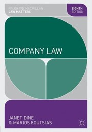 Cover of: Company Law Janet Dine and Marios Koutsias