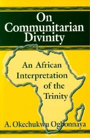 Cover of: On communitarian divinity