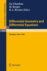 Cover of: Differential Geometry and Differential Equations