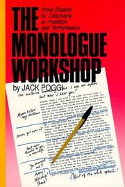 Cover of: The monologue workshop | Jack Poggi