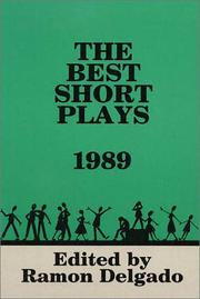 Cover of: The Best Short Plays of 1989 | Hal Leonard Corp.