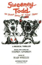 Cover of: Sweeney Todd: a musical thriller