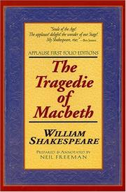 Cover of: The tragedie of Macbeth | William Shakespeare