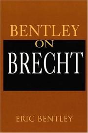 Cover of: Bentley on Brecht