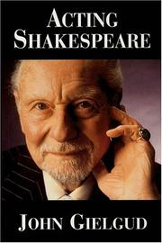 Cover of: Acting Shakespeare | John Gielgud