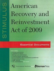 Cover of: Stimulus American Recovery and Reinvestment Act of 2009
