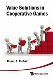 Cover of: Value Solutions in Cooperative Games