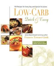 Cover of: Low Carb, Quick and Easy | Frances Towner Giedt