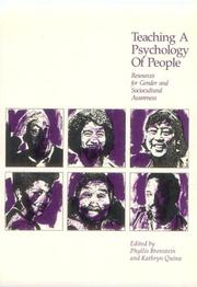 Cover of: Teaching a Psychology of People | Phyllis Bronstein