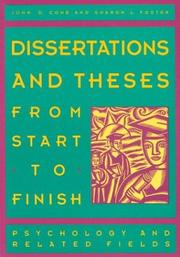dissertations and theses from start to finish cone Dissertations and theses from start to finish : psychology and related fields dissertations and theses from start to finish dissertations and theses.