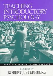 Cover of: Teaching introductory psychology