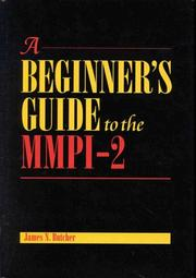 Cover of: A beginner's guide to the MMPI-2